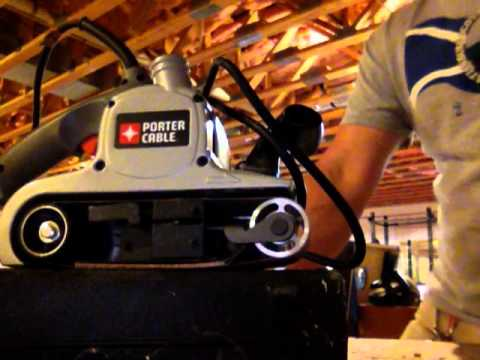 Porter Cable belt sander review.