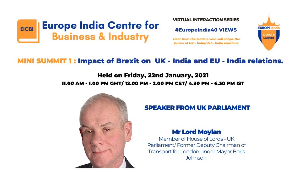 Speech to the Europe India Centre for Business & Industry