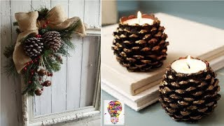 Amazing ideas and decorations from cones # 2