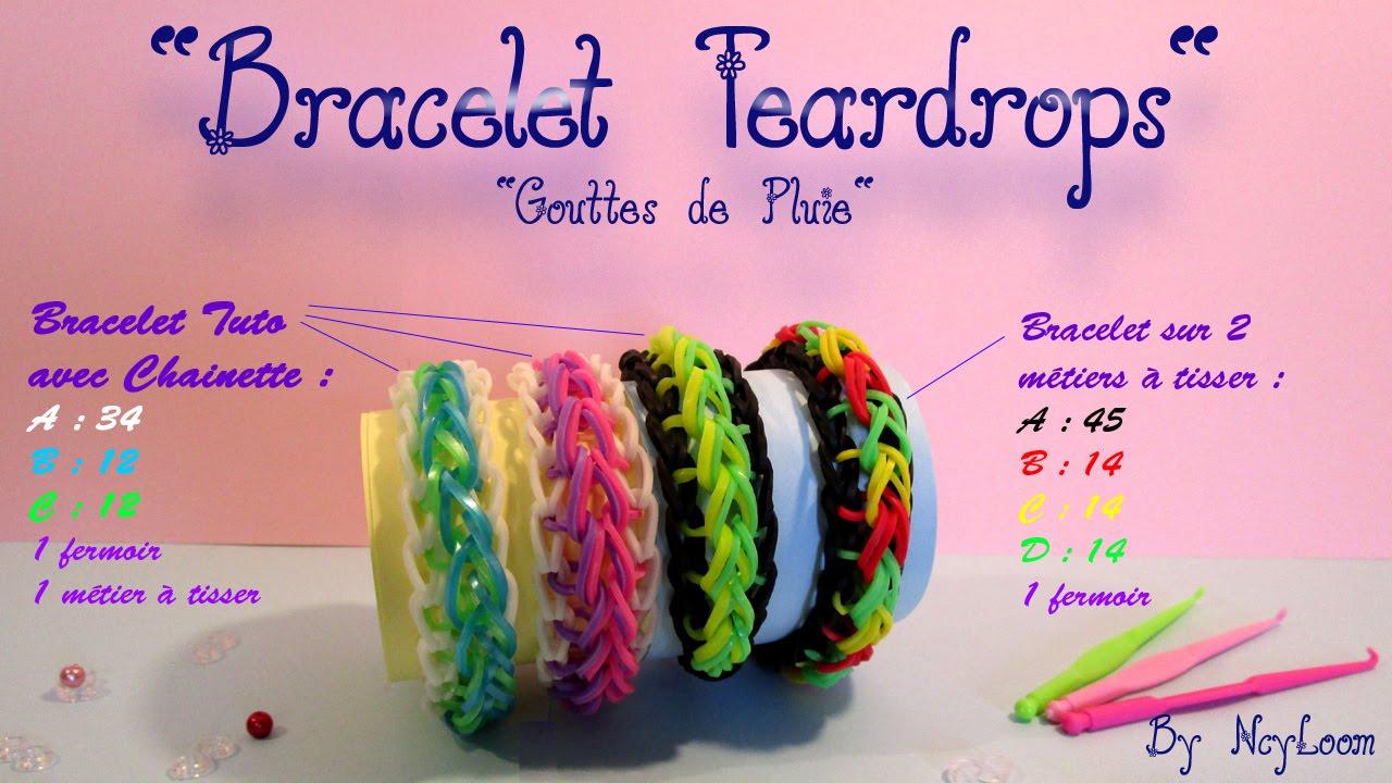 tuto simple bracelet lastique raindrop rainbow loom fr youtube. Black Bedroom Furniture Sets. Home Design Ideas