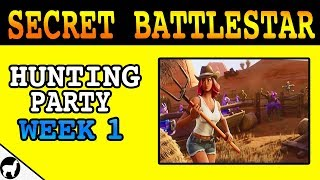 Fortnite Season 6 Week 1 Secret Battlestar | Hunting Party Down on the Ranch Loading Screen