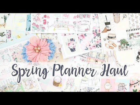 Planner Haul! Spring Stickers & Accessories