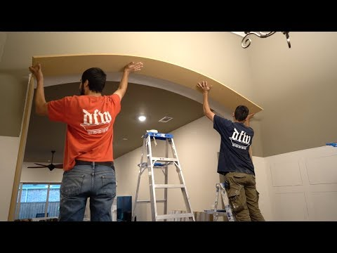 Bending Boards For Arched Trim - Finish Carpentry Install