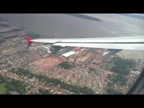 DECOLAGEM DE BELÉM-PA. RUMO A SANTARÉM-PA. AIR BUS A320 DA TAM