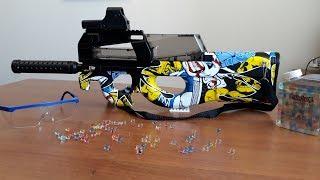 автомат P90 Самый мощный автомат стреляющий шариками орбиз с Алиэкспресс