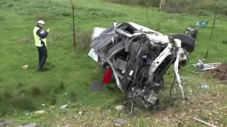 Tokat' ta Feci Kaza! Araç Tarlaya Uçtu: 2 Ölü