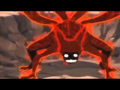 Naruto Kyuubi vs Orochimaru  Full Fight English Dub