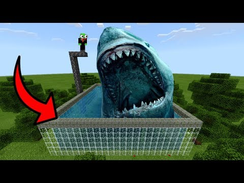 How To Make A MEGALODON Pool In Minecraft PE