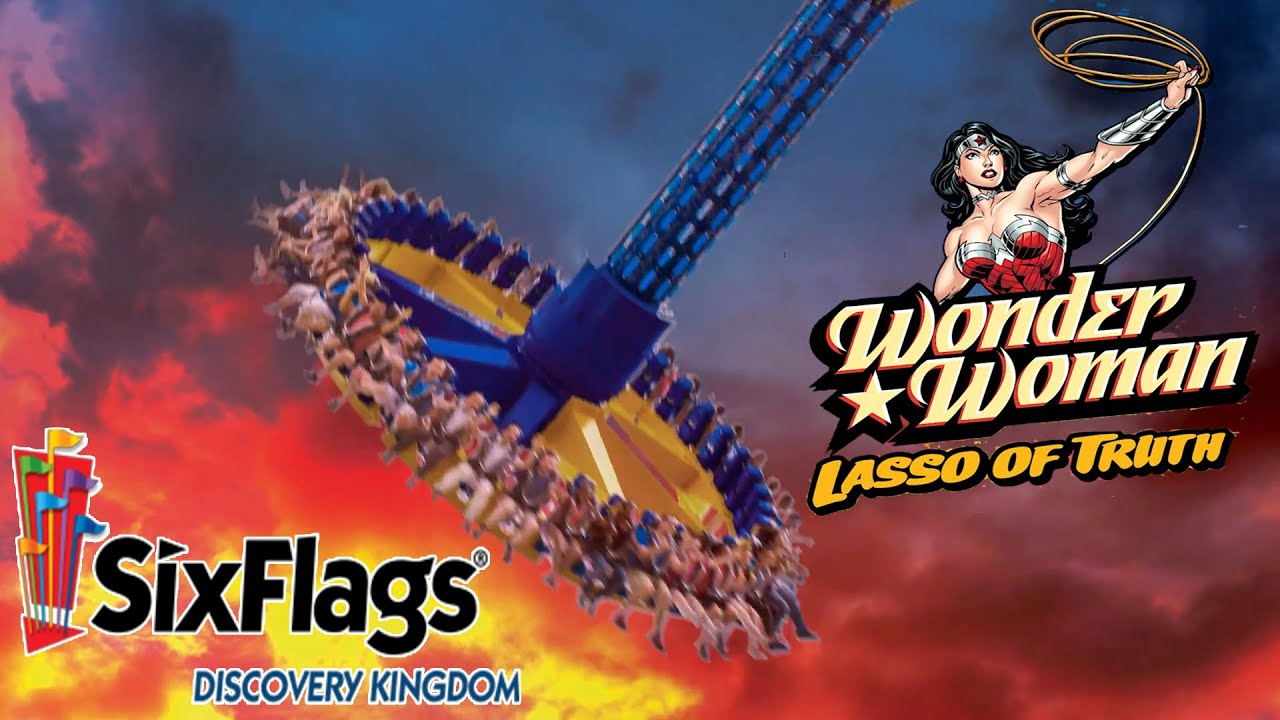 Wonder Woman Lasso Of Truth New Ride At Six Flags -6959
