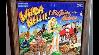 2015 Whoa Nellie! Big Juicy Melons Pinball Machine In Action