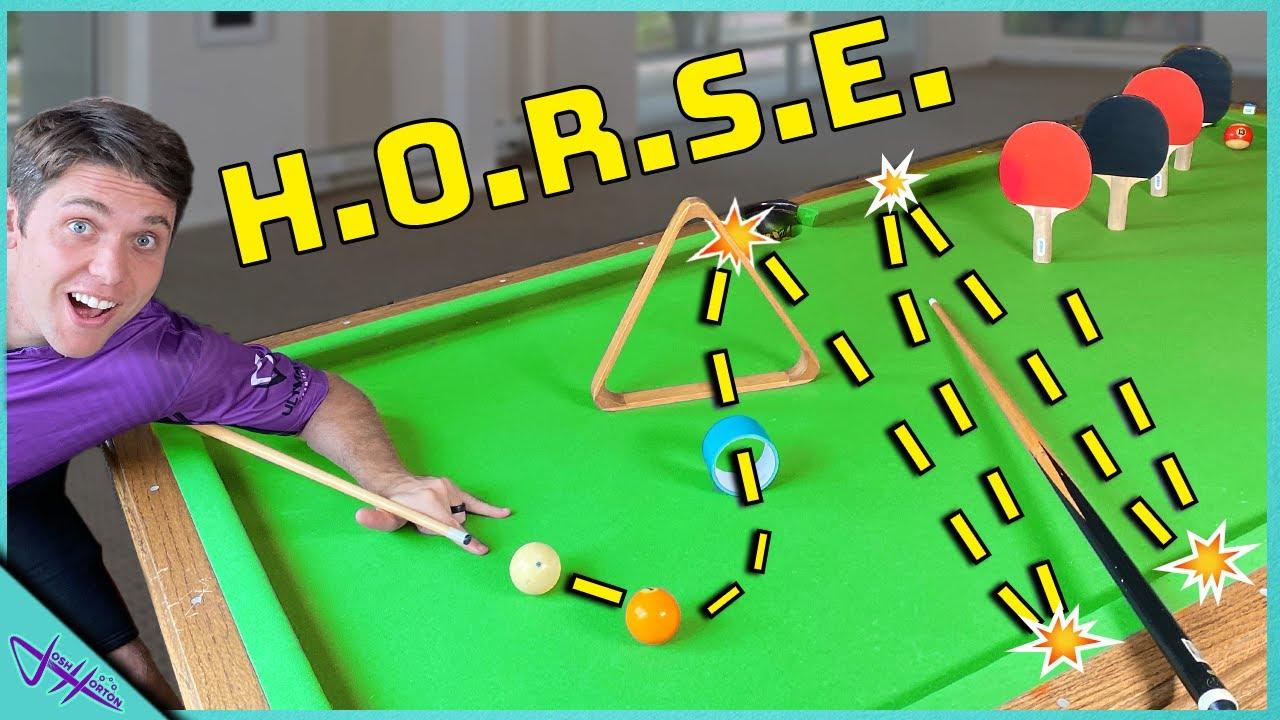 POOL TRICK SHOT H.O.R.S.E.!