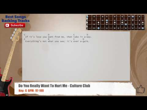 Do You Really Want To Hurt Me - Culture Club Bass Backing Track with chords and lyrics