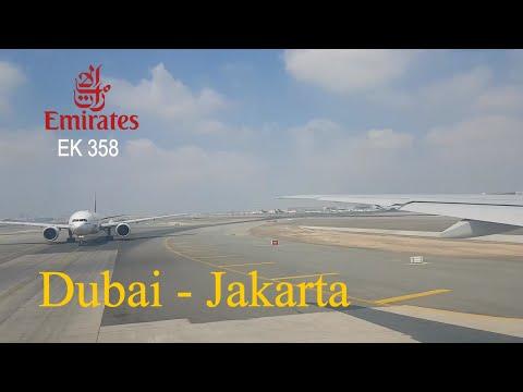 Emirates EK 358 Dubai - Jakarta   Boeing 777-300 Flight Experience