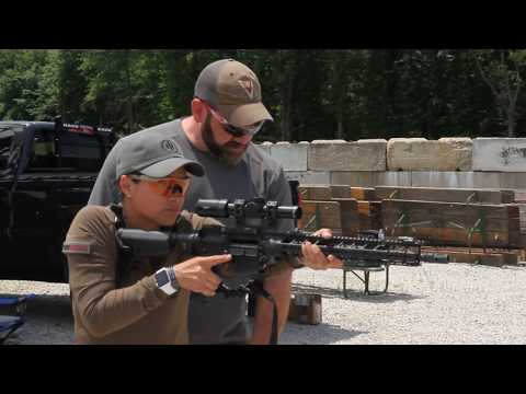 IN COURSE RAW FOOTAGE: First Time Carbine Shooter Learns About Shooting Stance with Steve Fisher