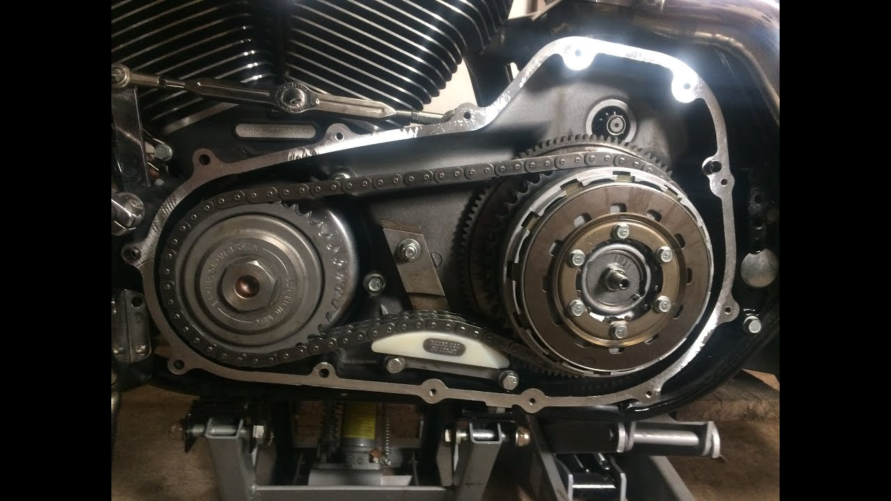 Harley Primary Install Softail Manual One Word Quickstart Guide Davidson 2013 Slim Wiring Diagram Baker Compensator Chain Tensioner On A 07 Road King Rh Youtube Com Heritage