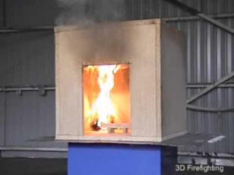 "Small scale fire simulator - the ""Dolls House""  Compartment fire behaviour training prop"