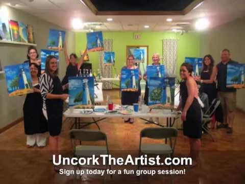 Group art Classes, Toledo Ohio by Uncork The Artist