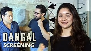 Sachin Tendulkar's Beautiful Daughter SARA At Dangal Movie Screening