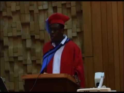 Prof Vusi Gumede inaugural lecture part 1