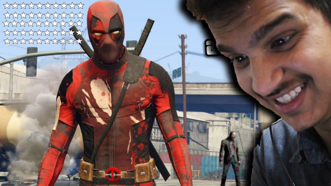 GTA 5 : DEADPOOL VS ALL 50 STAR POLICE CASE IN GTA 5 GAMEPLAY HINDI [FUNNY GAMEPLAY]
