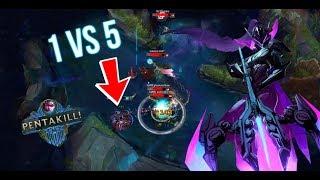 1VS5 PENTA WITH VAYNE / EPIC VAYNE PLAYS [ League of Legends ]