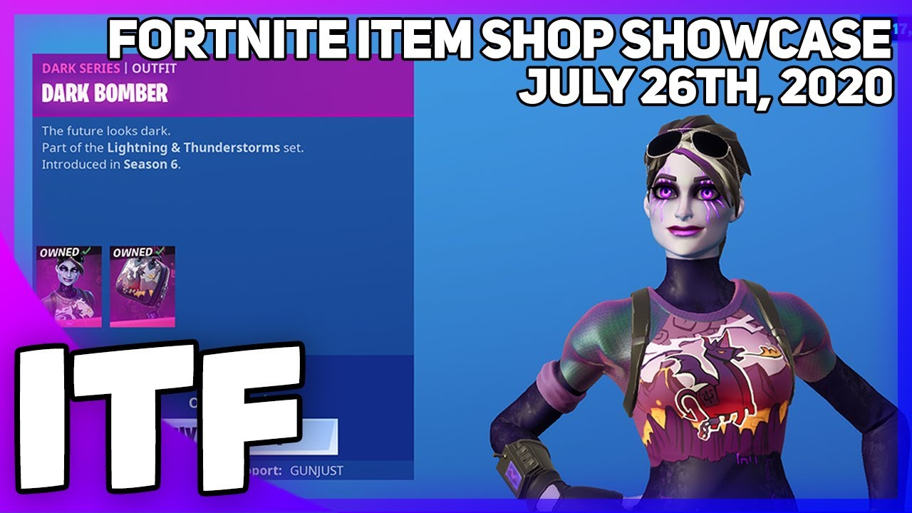 Fortnite Item Shop DARK BOMBER IS BACK! [July 26th, 2020] (Fortnite Battle Royale)
