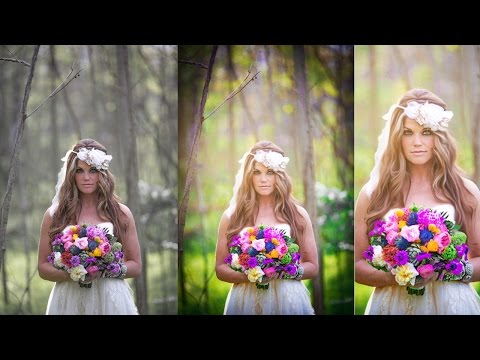 Photoshop Wedding photo editing | Oil Painting | Color adjustment