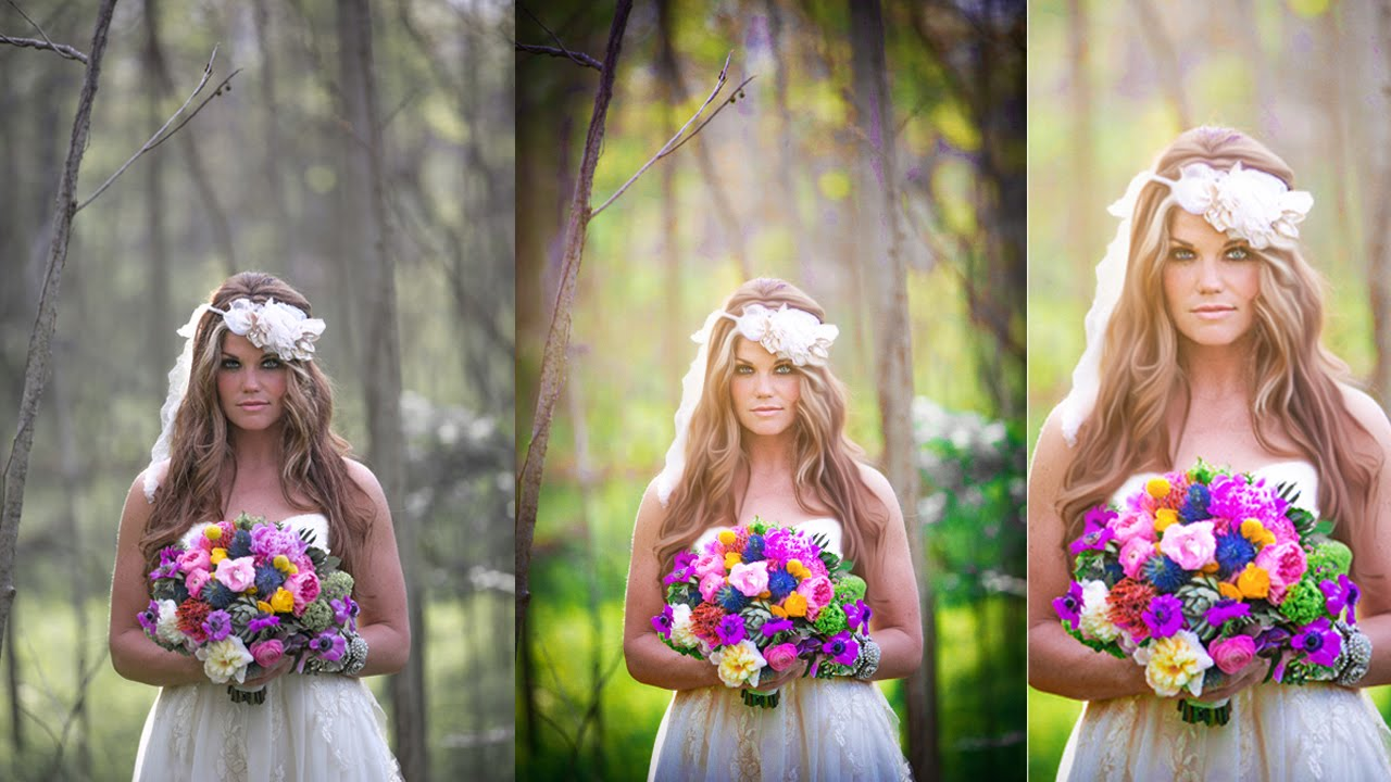 Wedding Photography Retouching: Photoshop Wedding Photo Editing