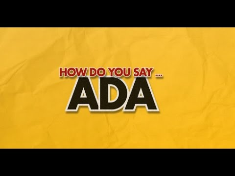 How do you say Ada? - YouTube