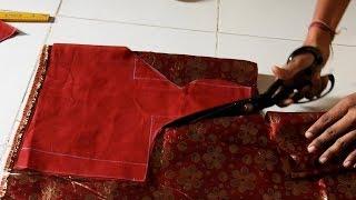 Very Easy Designer Sada Blouse Design Cutting and Stitching for Saree
