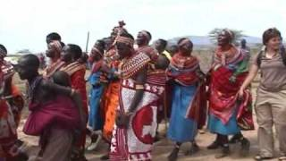 Samburu welcome ceremony