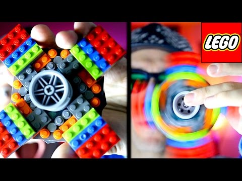 DIY GIANT Lego Fidget Spinner Tutorial! Make your own awesome Lego Hand Spinner!