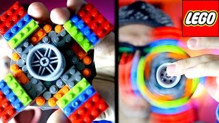 DIY GIANT Lego Fidget Spinner Tutorial! Make your own awesome Lego Hand Spinner!