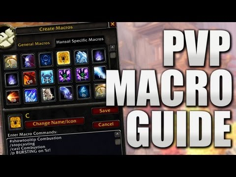 Basic Mage PvP Macros MoP