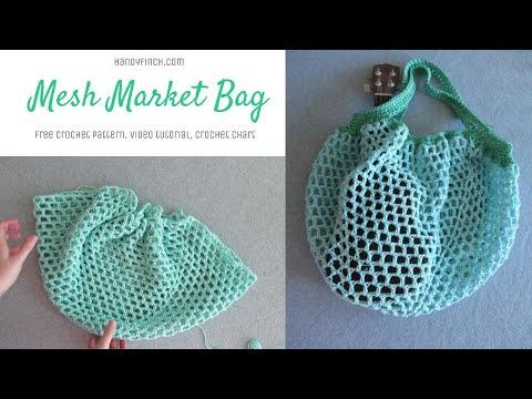 Mesh Market Bag Crochet Tutorial Youtube