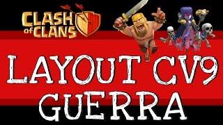 Clash of Clans | 3 melhores Layouts Guerra CV9 #3