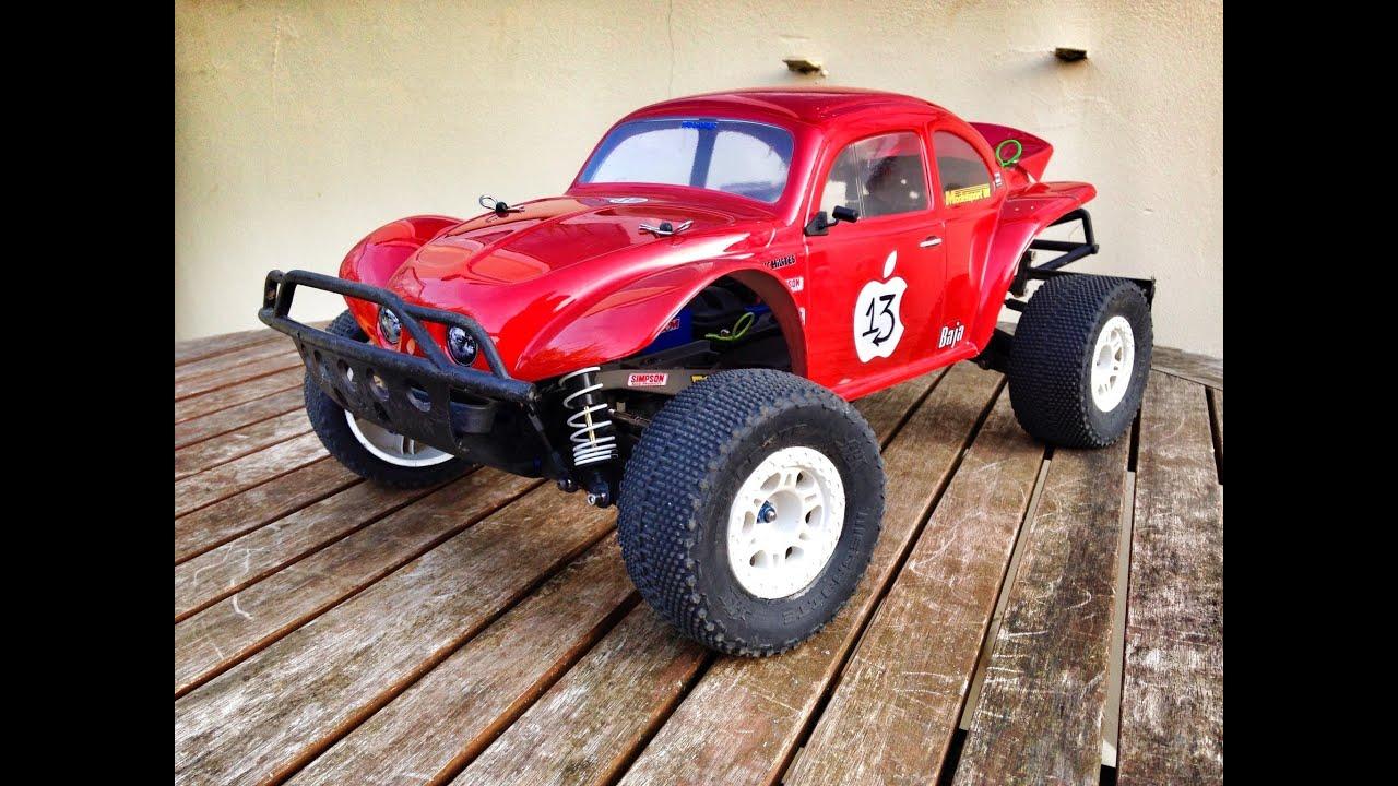Traxxas Slash Ultimate 4x4 speed run mikeekim 3s lipo fast Rc VW bug