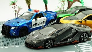 Transformers Diecast Metal racing car Bumblebee, Hot Rod, Crosshairs Barricade Police Car for Kids