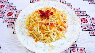 Салат из капусты и моркови на зиму Салаты на зиму без стерилизации Салат з капусти та моркви на зиму