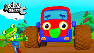 Baby MONSTER Truck?!|Gecko's Garage|Funny Cartoon For Kids|Learning Videos For Toddlers