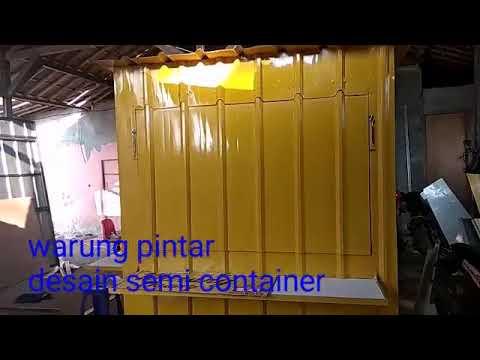 Pembuatan Warung Pintar Dengan Desain Semi Container Youtube