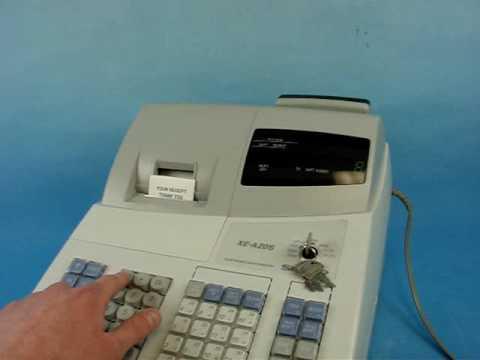 sharp xe a20s cash register auction bay online www auctionbayonline rh youtube com Sharp Cash Register Help Line Sharp Electronic Cash Register Help