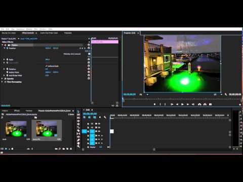 How To Pan Images/Video in Adobe Premiere Pro CS6 / CC