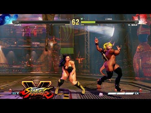 Street Fighter V AE Laura Vs R. Mika PC Mod #2