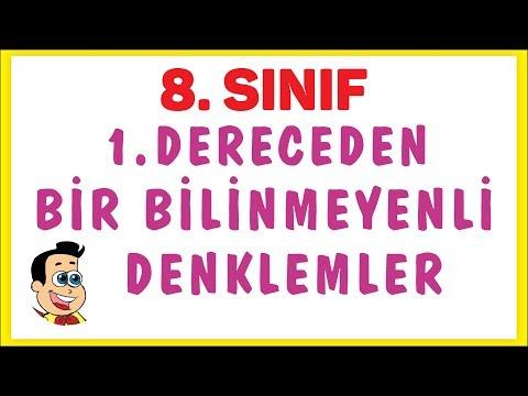 8. SINIF BİRİNCİ DERECEDEN DENKLEMLER | ŞENOL HOCA