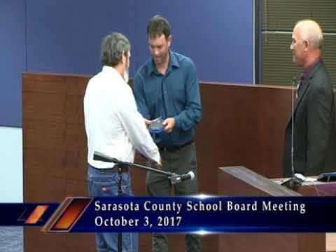 Sarasota County School Board Meeting 10-3-17 Part 1
