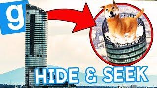 PIESEŁ I KRYJÓWKI NA SZYCIE WIEŻOWCA! | Garry's mod (With: EKIPA) #782 - Hide & Seek [#70]