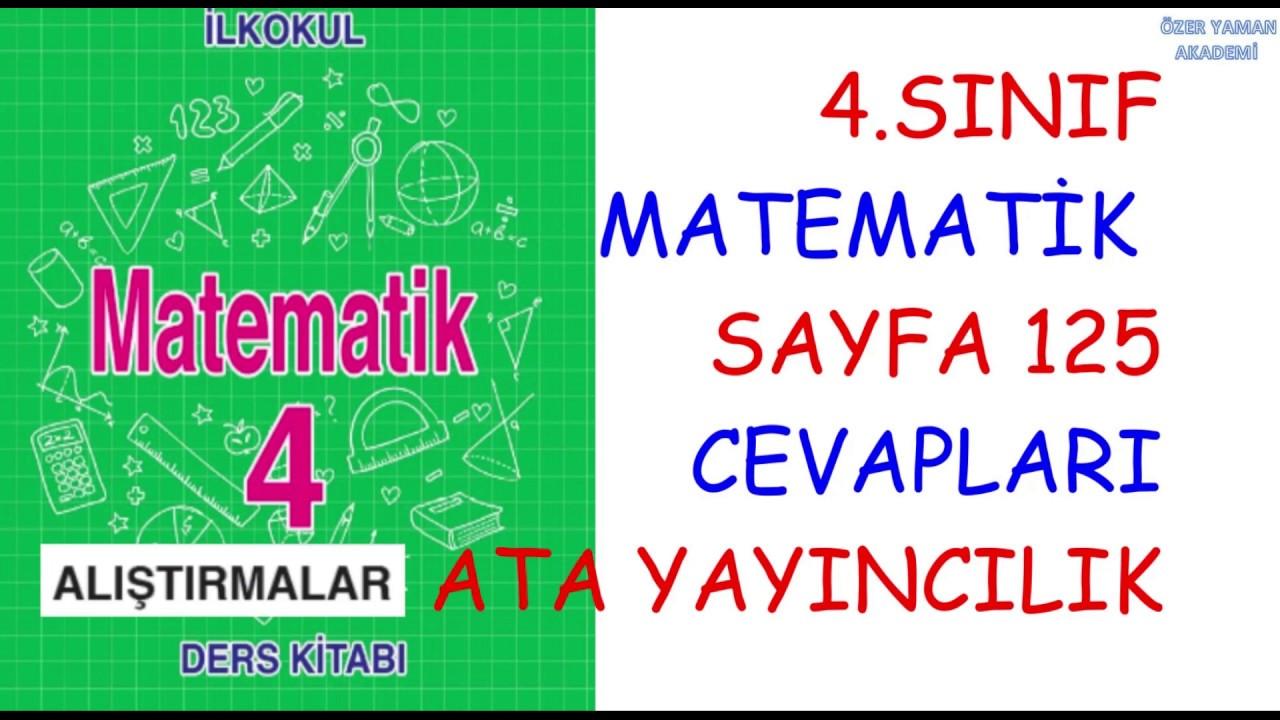 4 Sinif Matematik Sayfa 125 Alistirmalar Cevaplari Kesir Cesitleri