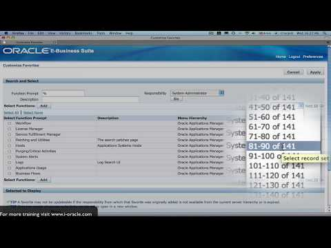 Oracle Training - Navigating in Oracle E-Business Suite R12