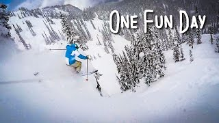 Video GoTime || One Fun Day : fun powder day shredding with buddies download MP3, 3GP, MP4, WEBM, AVI, FLV September 2018